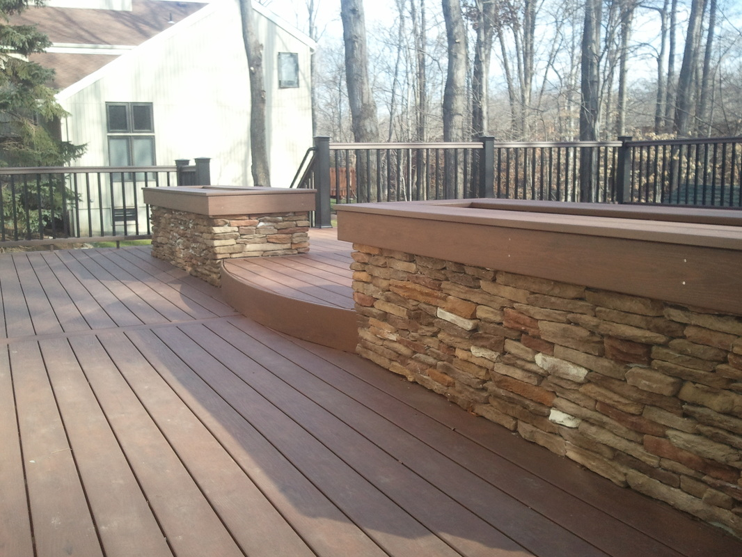 Composite deck composite decking material nj for Composite deck railing